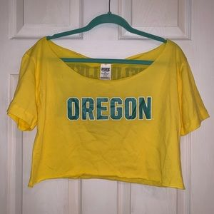 PINK Oregon Ducks Crop Top - NWT